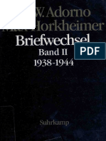 Theodor w Adorno Theodor w Adornomax Horkheimer Briefwechsel 19271969 Band II 19381944