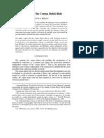 corpus delecti rule