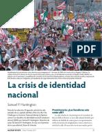 La crisis de la identidad nacional
