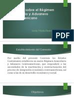 Presentación Del Convenio Sobre El Régimen Arancelario y Aduanero Centroamericano