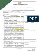 PV-PR-01 Procedimiento gestión de proveedores V6