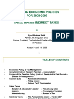 Shabbar Z_Pakistan Ecnomic Policies 2008-2009