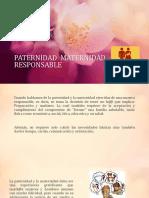 presentacion PATERNIDAD  MATERNIDAD RESPONSABLE