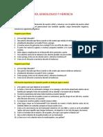 Cuestionario del ARBOL GENEALOGICO
