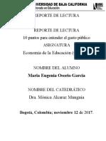 Actividad No 3 Reporte de lectura de economia