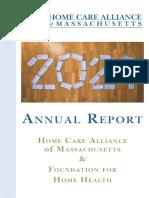 2021 Home Care Alliance of Massachusetts Annual Report