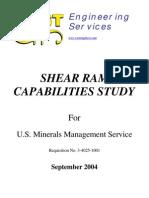 Shear Ram capabilities study