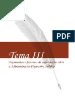 Orçamentos e Sistemas de Informação Sobre a Adm. Fin. Pública