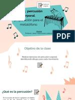 PPT Percusión corporal y metalófono 3º