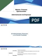 Administrador Financiero, función financieras y los EEFF