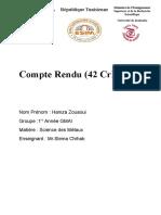 Compte Rendu TP SDM