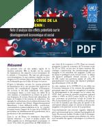 BENIN Impacts socio economiques COVID-19