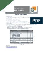 General Information Intermediate 1