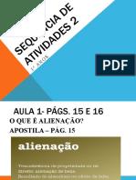 SEQUÊNCIA DE ATIVIDADES 2