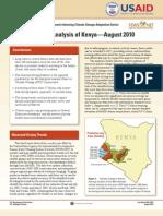 FEWS Kenya Climate Trend Analysis