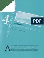 Cuatro Paradojas Vertebrales en La Poesia de Jose Angel Valente 989076
