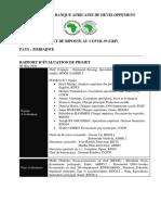 Zimbabwe - Projet de Riposte Au Covid-19 Crp - Rapport Devaluation de Projet