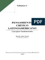 VERGARA, Jorge, Pensamiento Critico Latinoamericano Vol I