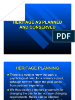 Heritage as Planned and Conserved