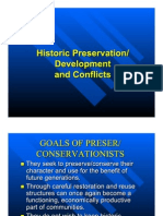 Historic Preservation/Development and Conflicts