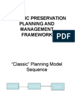 HISTORIC PRESERVATION PLANNING AND MANAGEMENT FRAMEWORK
