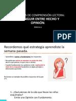 5° BÁSICOS  ESTRATEGIA_DISTINGUIR ENTRE HECHO Y OPINIÓN