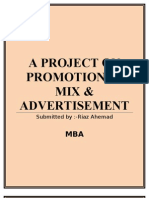 Promotion mix &  advertising