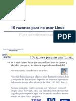 10 razones para no usar Linux