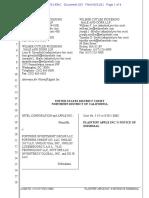 21-06-21 Apple Notice of Dismissal