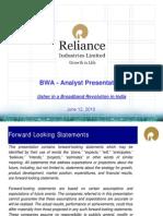 RIL - BWA Analyst Presentation - Jun 2010