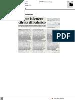 Svelata lettera criptata di Federico da Montefeltro - Il Corriere Adriatico del 22 giugno 2021