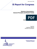 Statutory Construction - General Principles