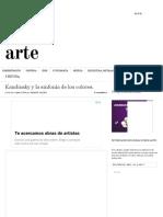 Kandinsky y la sinfonía de los colores. - líneas sobre arte