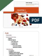 Chapitre 3 Tissu sanguin Dr LAMDA 2021