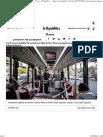 Covid, Nas sui mezzi pubblici a Roma e nel Lazio 28 casi - la Repubblica