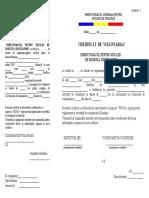 Anexa 5 Certificat de Voluntariat