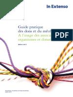 Guide Pratique Dons Et Mecenat 2011_Octobre 2011