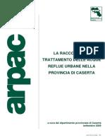 La raccolta e il trattamento delle acque reflue urbane nella provincia di Caserta (2009)