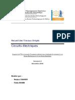 TDs Circuits Electriques