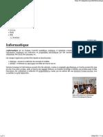 Informatique — Wikipédia
