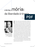 Memória Da liberdade à tirania_ Pierre Nora_Revista Musas_ 2009