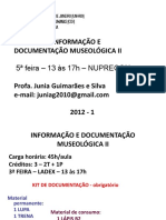 Programa e Apresentaçao DISC INF E DOC MUS II 2012 2