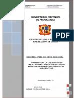Liquidacion - Obras Por Oficio