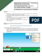 TDE3 - Lançamento Projéteis e Função Quadrática