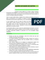 MANEJADORES DE BASES DE DATOS