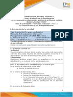 Guia de actividades y Rúbrica de evaluación Unidad 1 - Fase 2 - La Geopolítica en la era de la globalización