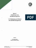 Modul 01-1C - Bedeutung und Historie des Qaulitätsmanagements