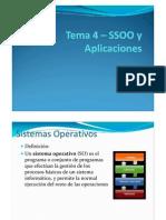 Tema 3 – SSOO y Aplicaciones