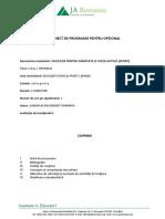 Educatie Pentru Sanatate - Programa Si Planificare 2015