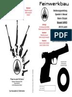 Feinwerkbau AW93 Manual